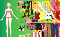 colorful fashion dressup