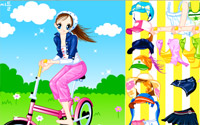 cycling girl dressup
