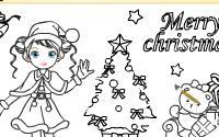 Christmas Girl Painting