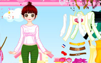 happy pink dressup