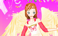 pink angel dressup