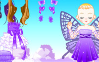 purple butterfly dressup