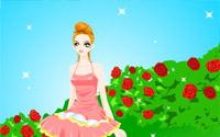 roses ballerina dressup