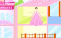 Pink Dollhouse Decoration